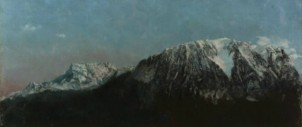 "Gustave Courbet, ""Panorama des Alpes"", vers 1875, © MAH, photo: B. Jacot-Descombes, inv. BA 2014-15"