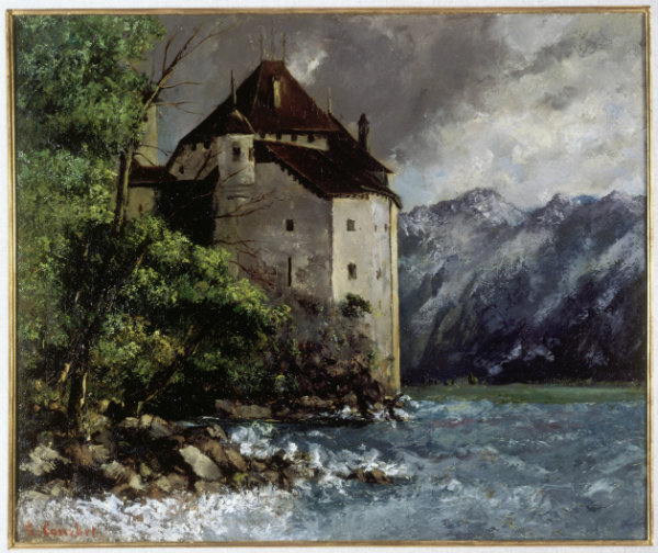Gustave Courbet, Le Château de Chillon, 1873, Cologne, Wallraf-Richartz-Museum & Fondation Corboud, Dep. FC 698, © Rheinisches Bildarchiv Köln, Sabrina Walz, rba_c014538