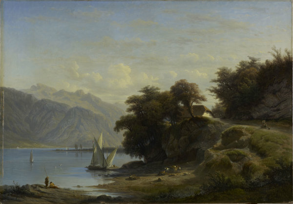 François Diday, Bord du lac près de Saint-Gingolf, 1869, © MAH, photo: B. Jacot-Descombes, inv. BA 2014-3