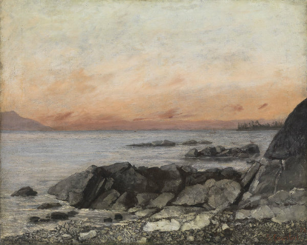 Gustave Courbet, Coucher de soleil, Vevey, Suisse, 1874,  Cincinnati Art Museum, Gift of George Hoadly, © Rob Deslongchamps