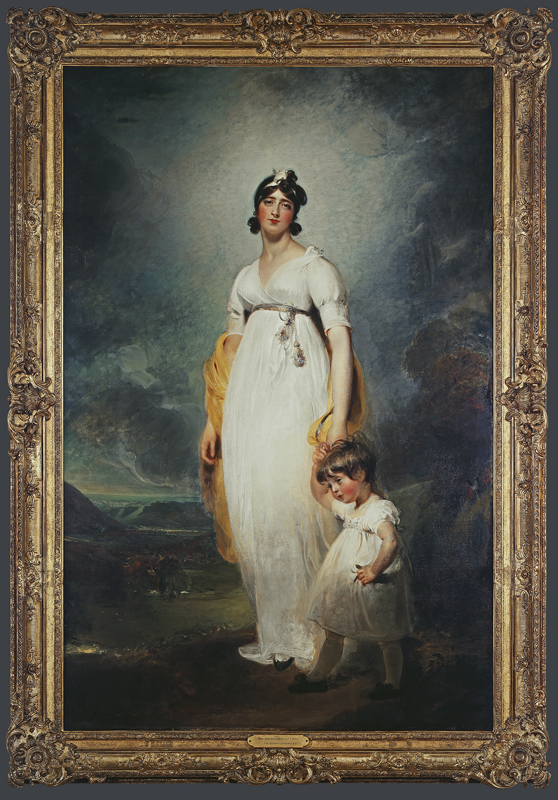 Sir Thomas Lawrence. Portrait d'Amélia Angerstein, née Lock, et de son fils aîné John Julius William, 1799, © MAH, photo: J.-M. Yersin, inv. 1985-56