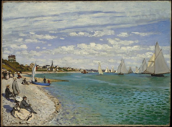 Claude Monet, Régate à Sainte-Adresse, 1867.  Huile sur toile, 75,2 x 101,6 cm ©The Metropolitan Museum of Art, New York
