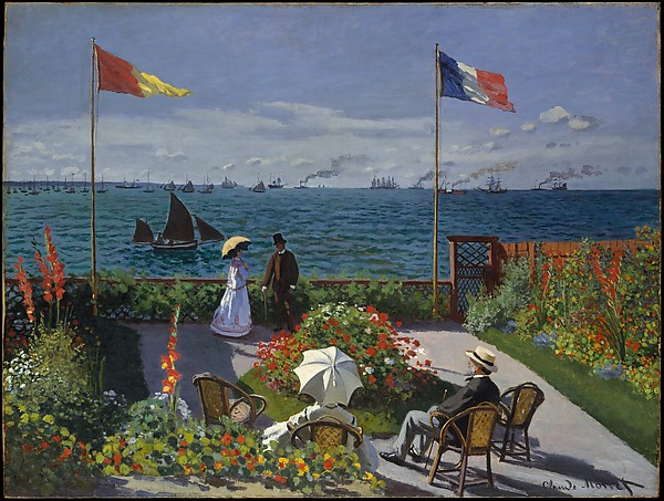 Claude Monet, Jardin à Sainte-Adresse, 1867. Huile sur toile, 98,1 x 129,9 cm ©The Metropolitan Museum of Art, New York