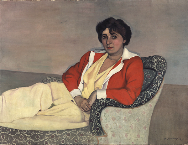 Félix Vallotton, Le Gilet rouge, 1913. Huile sur toile, 89 x 116 cm ©MAH, photo : B. Jacot-Descombes, inv. BA 2002-0002