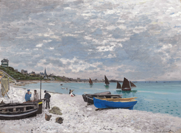 Claude Monet, La Plage de Sainte-Adresse, temps gris, 1867. Huile sur toile, 75,8 x 102,5 cm ©The Art Institute of Chicago
